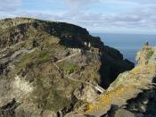 Originally uploaded at en.wikipedia as Image:RemainsofTintagel.JPG at 15th January 2006 by User:Maniple. His description: