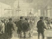English: February 6, 1869 Illustration from Harper's Weekly of the Colored National Labor Union convention in Washington, D.C. Store Web page states: