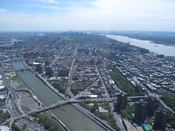 English: Aerial view of Harlem and Harlem river.
