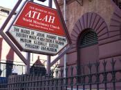 Sign outside the Atlah church in Harlem, New York