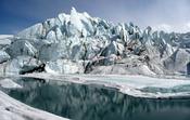 English: Mouth of the Matanuska Glacier in Alaska.