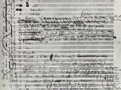 Hector Berlioz (1803 – 1869) First page of the original Symphonie Fantastique manuscript
