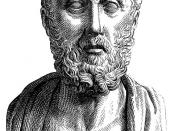 Hippocrates: a conventionalized image in a Roman