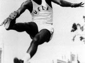 Robinson in his UCLA track uniform