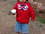 English: Young Jicarilla Apache boy, 2009