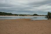 Mitchell River at Koolatah-Dunbar crossing during dry season, southwestern Cape York Peninsula, Australia.