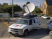 English: 7 News broadcast vehicle.