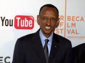 English: President Paul Kagame of Rwanda at the 2010 Tribeca Film Festival.