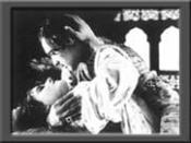Sulochana(left) and Dinshaw Billimoria in Anarkali, 1928, a silent era Indian Cinema