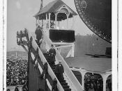 Kaiser leaving stand after christening of