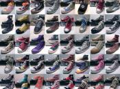 English: 40 different Converse variations from the hundreds of variations created.