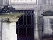 English: Tomb of David Hume on Calton Hill, Edinburgh, Scotland. Македонски: Гробот на Дејвид Хјум на Калтонскиот Рид во Единбург, Шкотска.