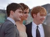 Daniel Radcliffe, Emma Watson & Rupert Grint (left to right) at the world premiere of Harry Potter & The Deathly Hallows Part 2 in London, England