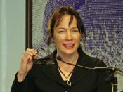 Alice Sebold in New York City. The photographer dedicates this photograph to Daniel Case, who requested it for Ms. Sebold's Wikipedia article, for his many improvements to the Wikipedia project.