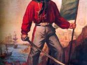 Giuseppe Garibaldi as a symbol of Risorgimento