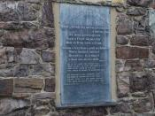 English: Cerdd a Chyfieithiad - Poem and Translation On the wall of 607848 is this poem by Eben Fardd (a famous local poet of the nineteenth century) singing the praises of the inn.