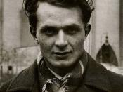 The image of English poet Stephen Spender (1909-1995)