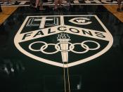West Catholic Falcon gym logo