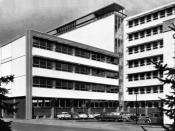 Deutsch: Daimler-Benz AG Verwaltungsgebäude Gaggenau 1961