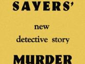 Paperback edition cover of the Lord Peter Wimsey novel Murder Must Advertise