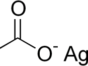 chemical structure of silver acetate