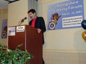 English: John Stossel at the 2007 New Hampshire Liberty Forum