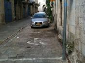 English: Handicapped parking Old City Jerusalem