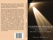 English: Back cover and front cover of my (Thomas Wright Sulcer) book, an essay, published in 2009. Common Sense II is a terrorism prevention strategy readable on the web here at Common Sense II. It is a pamphlet similar to Thomas Paine's