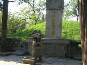 Photograph of the tomb of Confucius in Qufu, Shandong Province, China. Picture taken on April 21 2005 by Rolf Müller. Confucius' posthumous name was