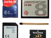 Size comparison of various flash cards: SD, CompactFlash, MMC, xD