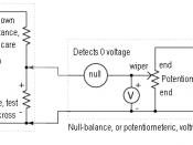 Null-balance voltmeter