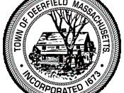 Official seal of Deerfield, Massachusetts