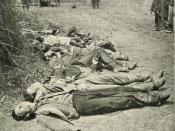 English: Confederate dead of General Ewell's Corps who attacked the Union lines at the Battle of Spotsylvania.