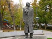 English: Statue of William Saroyan