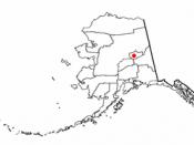 Location of Fairbanks, Alaska