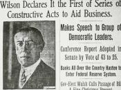 Description: Newspaper clipping USA, Woodrow Wilson signs creation of the Federal Reserve. Source: Date: 24 December 1913