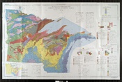 English: Bedrock geologic map of the US area bordering Lake Superior in Minnesota, Wisconsin, and Michigan.