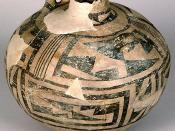 A canteen (pot) excavated from the ruins in Chaco Canyon (New Mexico, United States), (AD 1075-1300).