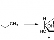 English: Formation of ethyl glucoside from glucose and methanol, showing the anomeric carbon and the resulting glycosidic bond. Created with ChemSketch; released into the public domain.