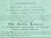 English: Advertisement for Gaelic League in Gaelic Journal, Volume 5, nr 3 June 1894