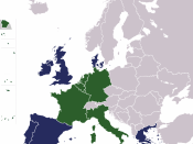 Map of the European Union, enlargements upto 1992