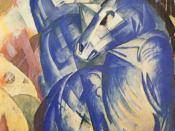 Franz Marc, The Tower of Blue Horses 1913, (missing since 1945)