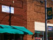 English: Buildings in the downtown historic district of Siler City, NC