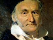 Oil painting of Carl Friedrich Gauss by G. Biermann (1824-1908)