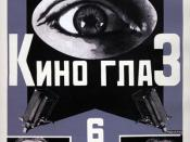 Poster for Kino-Glaz, designed by Aleksandr Rodchenko (1924)