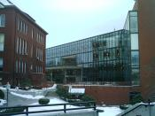 The Hammond Campus Center, with Thompson Hall to the left.