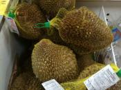 English: Frozen durian fruit in a grocery store in Canada