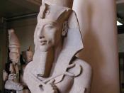 A colossal statue of Akhenaten from his Aten Temple at Karnak.