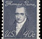English: 1969 stamp honoring Thomas Paine
