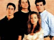 Roger Howarth (top center) and Susan Haskell (bottom center) as characters in the 1993 rape storyline.